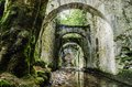 The forgotten factory one long time ago deep in to forest of navarra in spain Stock Photography