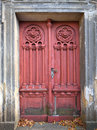 Forgotten old and weathered door Royalty Free Stock Photo