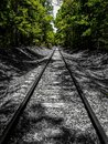 a stroll down the tracks Royalty Free Stock Photo