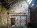 Forgotten places view with sun rays in old abandoned factory Stock Photography