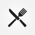 Fork knife vector icon illustration graphic design.