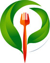 Fork and leaves