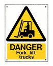 Fork Lift Truck Sign Stock Image