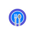 Fork, spoon, dish icon vector, filled flat sign, solid colorful pictogram isolated on white