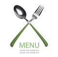 Fork and spoon isolated Royalty Free Stock Images