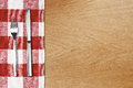 Fork and tableknife on red gingham tablecloth Royalty Free Stock Photos