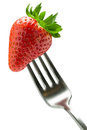 Forked strawberry Royalty Free Stock Photo
