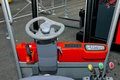 Forklift driver view Stock Photography