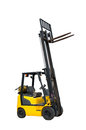 Forklift freight. Loading machine. Royalty Free Stock Photo