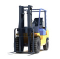 Forklift loader close up on a light background Stock Image