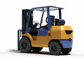 Forklift loader close up on a light background Royalty Free Stock Image