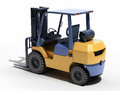 Forklift loader close up on a light background Stock Images