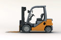 Forklift loader close up on a light background Royalty Free Stock Photos