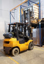 Forklift loader stacking Royalty Free Stock Photo