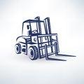 Forklift symbol Royalty Free Stock Photo