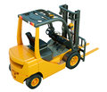 Forklift truck isolated modern on white background Royalty Free Stock Photos