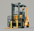 Forklift truck modern on gray background Royalty Free Stock Photos