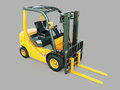 Forklift truck modern on gray background Royalty Free Stock Image