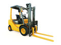 Forklift truck modern on light background Royalty Free Stock Photos