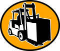 Forklift truck and operator Royalty Free Stock Photos
