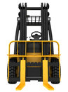 Forklift truck on white isolated background Royalty Free Stock Photo