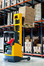 Forklifter pallet Stock Photo