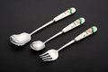Forks and spoons. Royalty Free Stock Photo