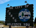 Forks, Washington Welcome Sign Stock Photos