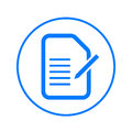 Form, edit document circular line icon. Round colorful sign. Flat style vector symbol.