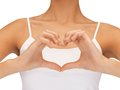 Form of heart shaped bright closeup picture the Royalty Free Stock Photo