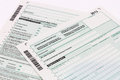 Form of income tax return Royalty Free Stock Photos