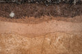 Form of soil layers,its colour and textures