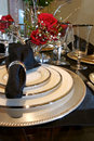 Formal Dining room place setting Royalty Free Stock Photos