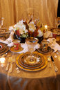 Formal Dining room place setting Royalty Free Stock Photo