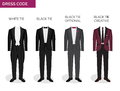 Formal dress code guide for men Royalty Free Stock Photo