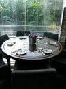 Formal elegant table setting Royalty Free Stock Photography