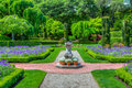 Formal English Garden Path Royalty Free Stock Photo