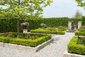 Formal garden a neatly arranged Royalty Free Stock Images