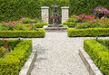Formal garden a neatly arranged Stock Image