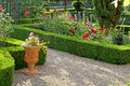 Formal Garden in Provence Royalty Free Stock Photo