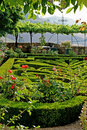 Formal Garden in Provence Stock Photo