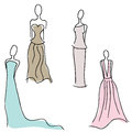 Formal gown designs an image of Royalty Free Stock Photography