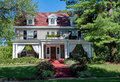 Formal House with Draped Porch Royalty Free Stock Photo