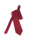 Formal tie red on white background Royalty Free Stock Photography
