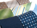 Formal ties variety of multicolored Stock Photo