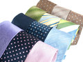 Formal ties variety of multicolored Royalty Free Stock Image