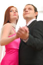 Formally dressed dancing couple Royalty Free Stock Image