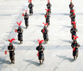 A Formation of Marching Soldiers Royalty Free Stock Photos