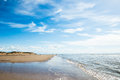Formby Beach  near Liverpool on a sunny day Royalty Free Stock Photo