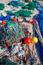 Formentera balearic islands fishing tackle nets longliner trawler trammel Stock Photo